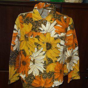 Chico's Design Sunflower Cotton Long Sleeve Jacket